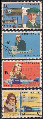 Australia 672-675 Used - Aviators/Aircraft