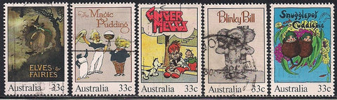 Australia 960a-960e Used - Children's Books