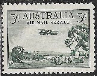 Australia C1 Unused/Hinged - Airplane over Bush Lands