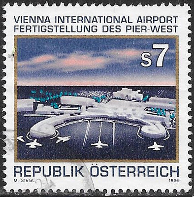 Austria 1697 Used - New Western Pier, Vienna International Airport