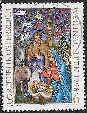 Austria 1713 Used - Christmas