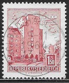 Austria 623 Used - Rabenhof Building - Socked on the Nose