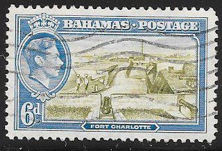 Bahamas 107 Used - George VI - Fort Charlotte