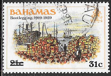 Bahamas 533 Used - Bootlegging 1919-1929