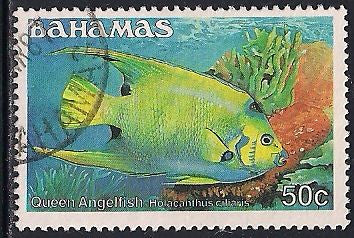 Bahamas 613 Used - Fish - Queen Angelfish