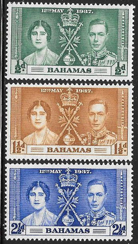 Bahamas 97-99 Unused/Hinged Hinge Remnant - George VI Coronation