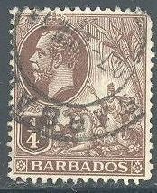 Barbados 116 Used - Seal of the Colony - George V