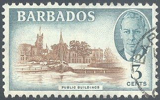 Barbados 218 Used - Public Buildings - George VI