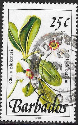 Barbados 757b Used - Flower - Rock Balsam - 1990