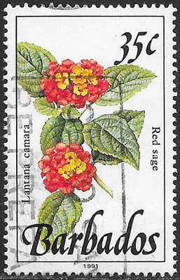 Barbados 758A Used - Flower - Red Sage - 1991