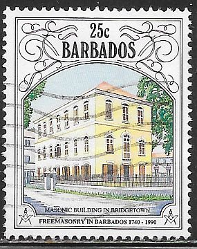 Barbados 803 Used - Freemasonry in Barbados 350th Anniversary - Masonic Building