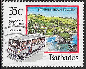 Barbados 831 Used - Transport & Tourism - Tour Bus - Bathsheba Beach