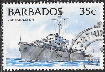 Barbados 876 Used - Ship - HMS Barbados