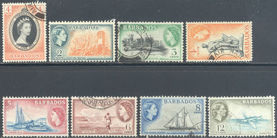 Barbados 8 Different Stamps