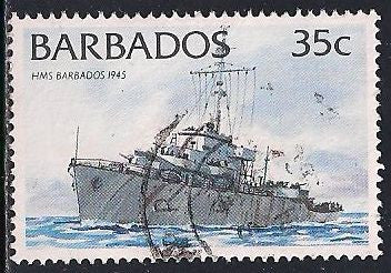 Barbados 876a Used -