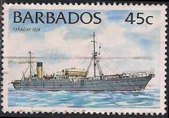 Barbados 877 Used - Ship - Faraday