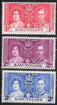 Basutoland 15-17 Unused/Hinged Hinge Remnant - George VI Coronation