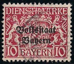 Bavaria O23 Used - Coat of Arms