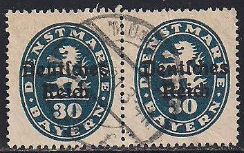 Bavaria O56 Used - Pair - Coat of Arms