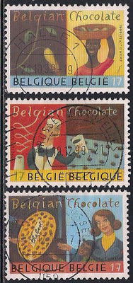 Belgium 1744-1746 Used - Chocolate