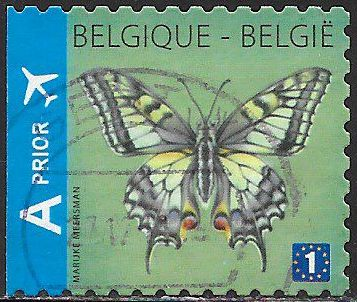 Belgium 2579 Used - Butterflies - Common Yellow Swallowtail (Papilio machaon)