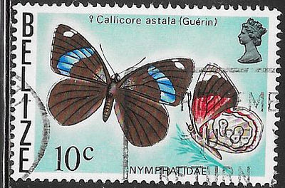 Belize 351 Used - Butterfly - Faded Eighty-Eight