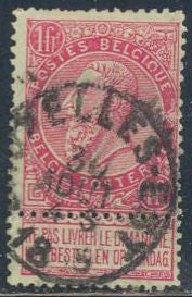 Belgium 72 Used - Short Perf. - King Leopold II - Socked on the Nose