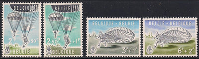 Belgium B664-B668 Unused/Hinged - Pencil - Short Set - Parachute