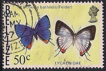 Belize 356a Used - Butterfly - Thecla Bathildis