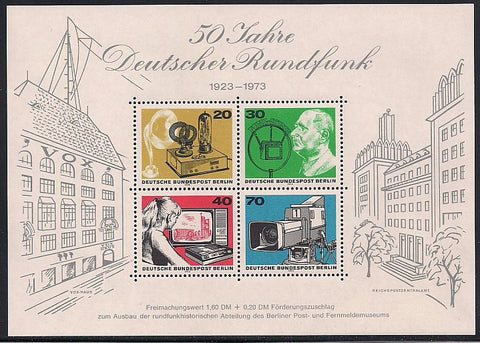 Berlin 9N343 MNH - 50 Years of Broadcasting