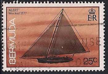 Bermuda 489 Used - Shipwrecks - Alert 1877