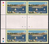 Bermuda 660-663 MNH - Furness Line - Gutter Blocks of 4
