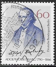 Berlin 9N592 Used - ‭Adolph Diesterweg (1790-1866), Educator - Last Berlin Stamp