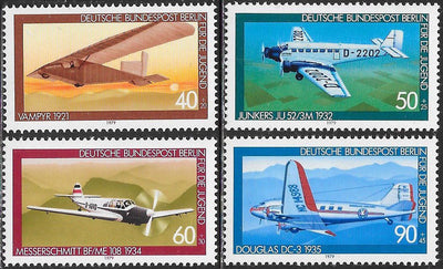 Berlin 9NB153-9NB156 MNH - Aviation