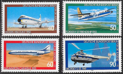 Berlin 9NB164-9NB167 MNH - Aviation