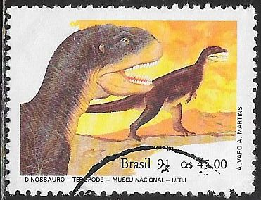 Brazil 2318 Used - Dinosaurs - Theropods