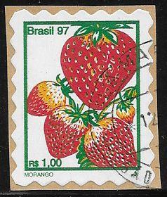 Brazil 2636G Used - Fruits & Nuts - Strawberries - On Paper