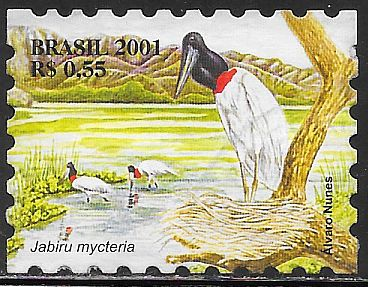 Brazil 2826d Used - Pantanal Flora - Bird - Saddle-Billed Stork