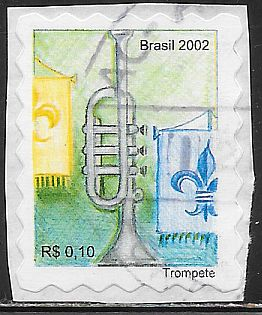 Brazil 2871 Used - Trumpet - On Paper