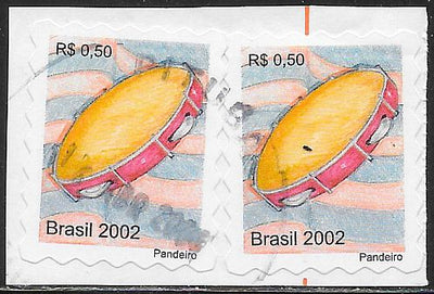 Brazil 2874 Used - Tambourine X2 - On Paper