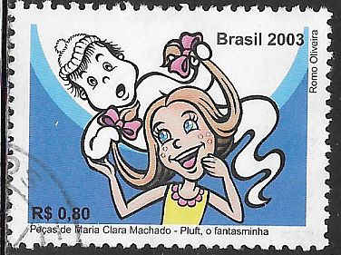 Brazil 2886 Used - Pluft the Ghost & Maribel