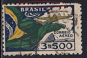 Brazil C31 Used - Flag & Plane - Perf Issues