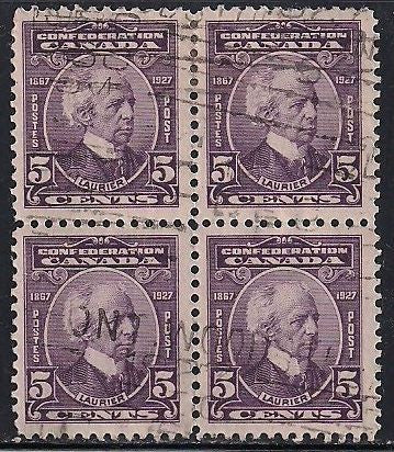 Canada 144 Used Block of 4 - Laurier