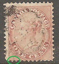 Canada 14 Used - Small Tear Bottom Right - Victoria