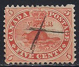 Canada 15 Used - Beaver - Pen Cancel