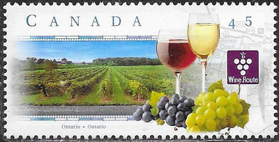 Canada 1652 Used - Scenic  Highways - ‭‭‭The Wine Route, Starting in Ontario