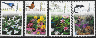 Canada 2145a-2145d Used - Gardens