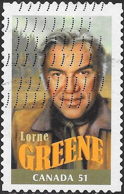 Canada 2154d Used - Canadians in Hollywood - Lorne Greene