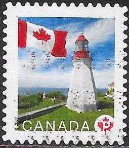 Canada 2253B Used - Lighthouses - ‭Flag and ‭Pachena Point Lighthouse, British Columbia