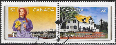 Canada 2276a-2276b Used -‭‭Anne of Green Gables, by Lucy Maud Montgomery, Centenary - CTO